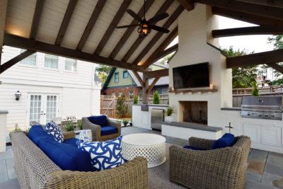 Poolside Cabana And Landscape Design