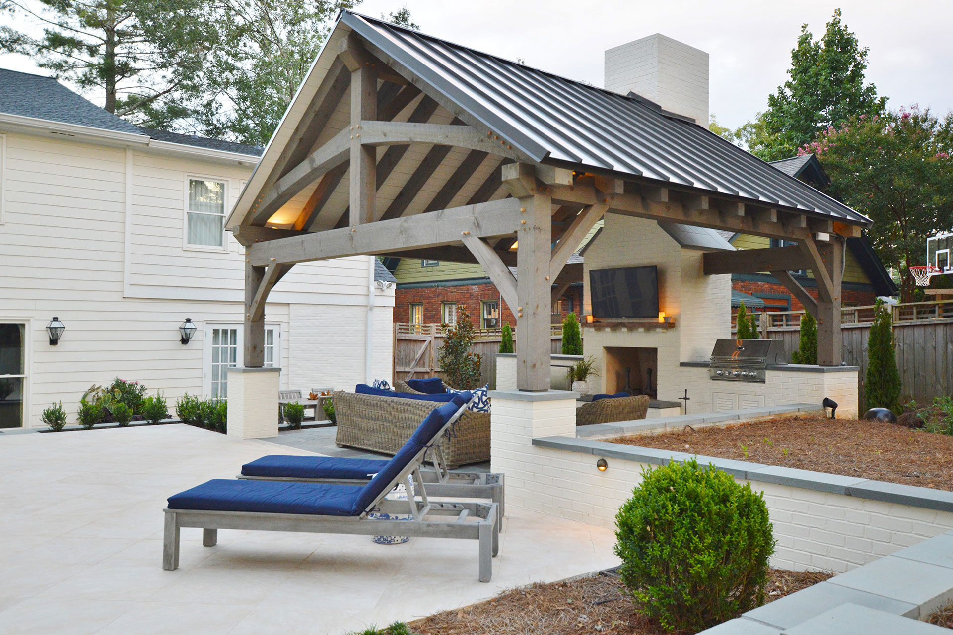 Poolside Cabana and Landscape Design