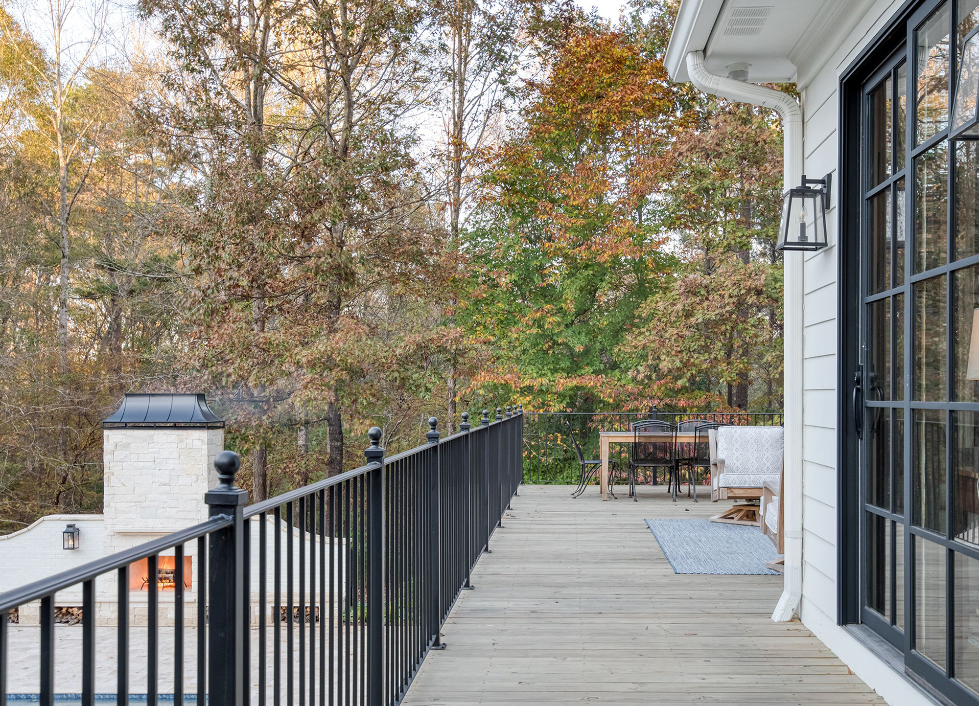 New Viewing Deck with Iron Railings